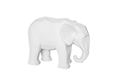 Present Time, Statue Origami Elephant - hvid